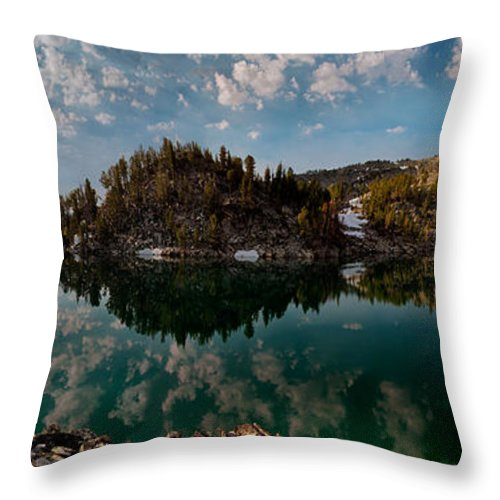 Altitude Throw Pillow featuring the photograph Skytop Panoramic by Leland D Howard