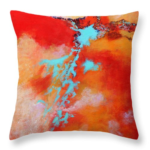 Abstract Throw Pillow featuring the painting Skyward 2 by M Diane Bonaparte
