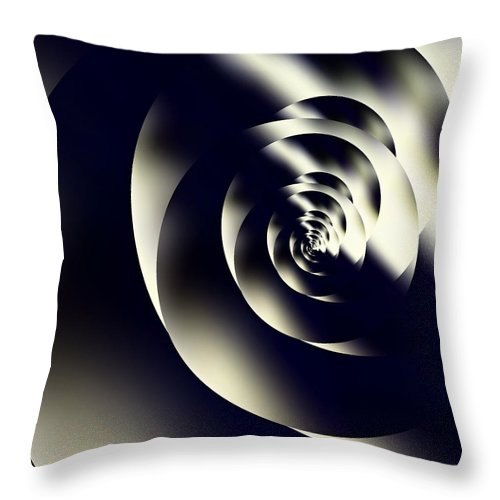 Abstract Digital Art Photographs Throw Pillow featuring the photograph Sleek Modern Snail by Danielle Parent
