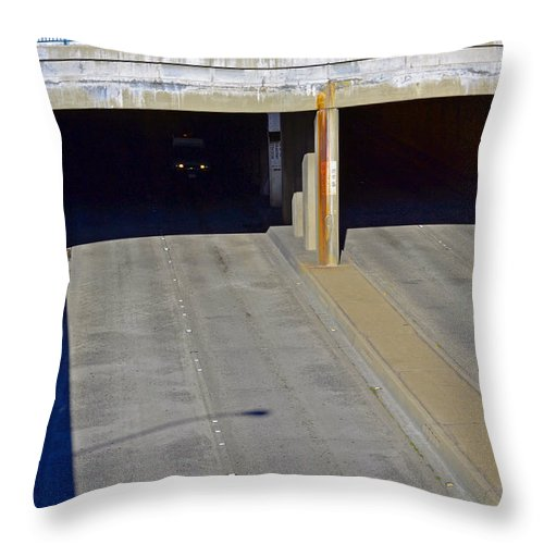 Urban Photographs Throw Pillow featuring the photograph Slow Day by Bill Owen