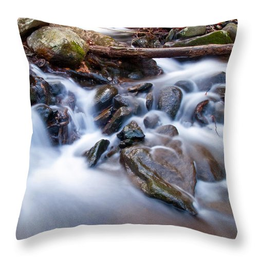 Waterfall Throw Pillow featuring the photograph Small Falls by David Freuthal