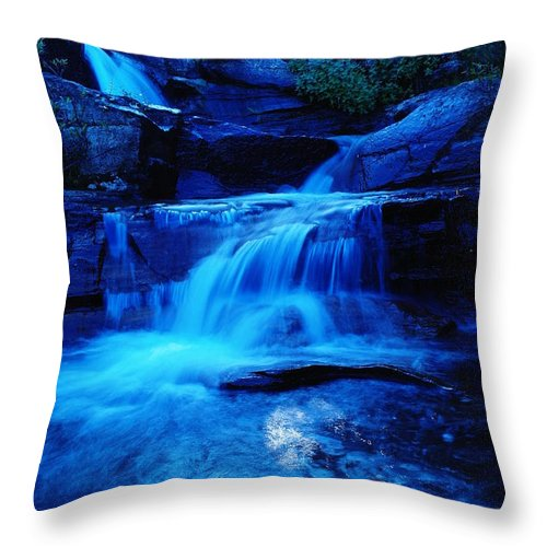 Waterfalls Throw Pillow featuring the photograph Small Waterfall Going Into Spirit Lake by Jeff Swan