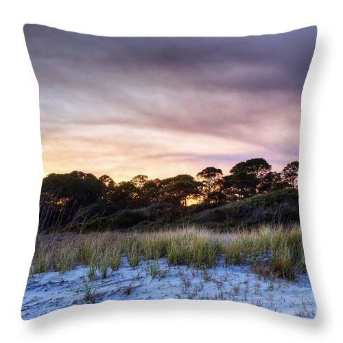 Beach Throw Pillow featuring the photograph Smoke In The Beach Air by Phill Doherty