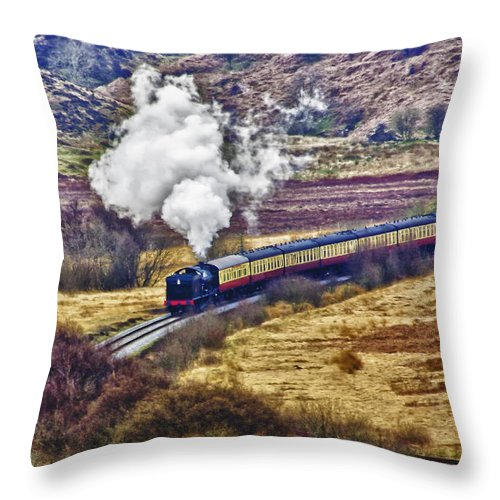 Nymr Throw Pillow featuring the photograph Smoke In The Valley by Trevor Kersley