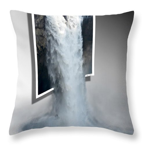 Falls Throw Pillow featuring the photograph Snoqualmie Falls by Betty Depee