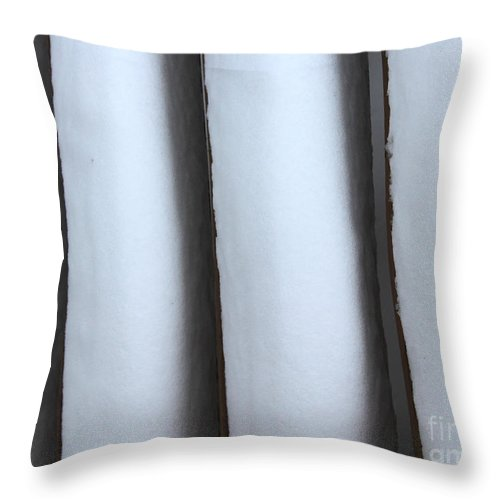 Snow Throw Pillow featuring the photograph Snow Abstract 3 by Barbara Griffin