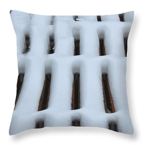 Snow Throw Pillow featuring the photograph Snow Abstract 4 by Barbara Griffin