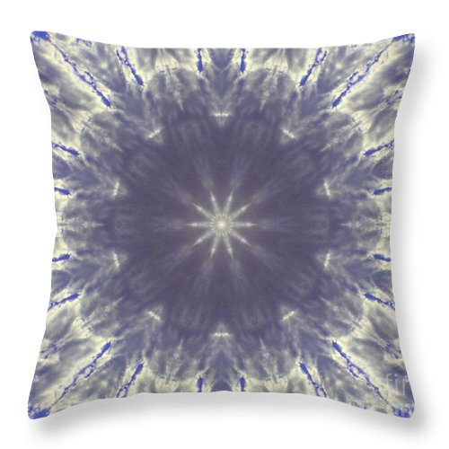 Digital Art Throw Pillow featuring the digital art Snow Flake Crystal by Tommy Anderson