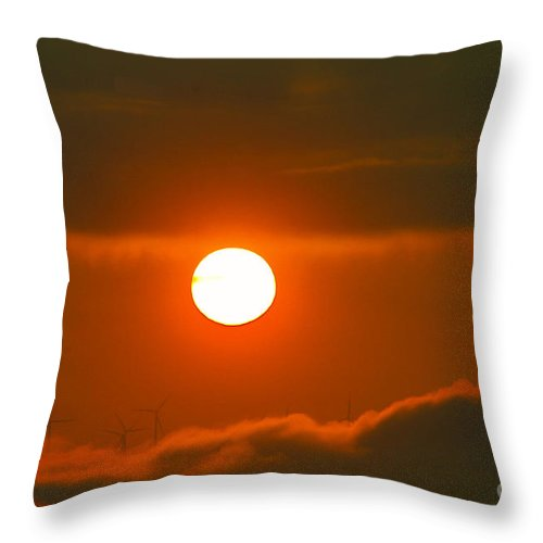 Sun Throw Pillow featuring the photograph Solar And Wind by Jeff Swan