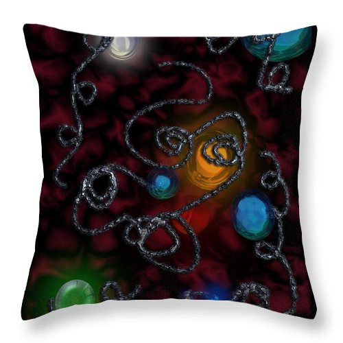 Soldered Throw Pillow featuring the digital art Soldered Twine by Michael Hurwitz