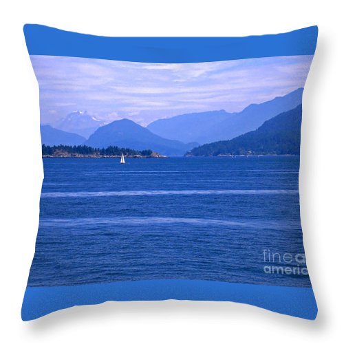 Sailboat Throw Pillow featuring the photograph Solitary Sailing by Ann Horn