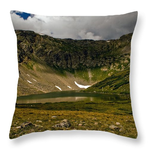 Lake Throw Pillow featuring the photograph Solitude by Brian Kerls