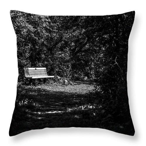Cj Schmit Throw Pillow featuring the photograph Solitude by CJ Schmit