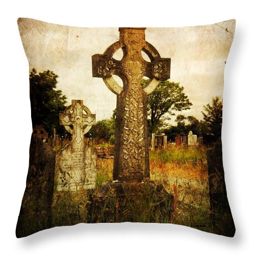 Cemetery Throw Pillow featuring the photograph Solitude by Leah Moore
