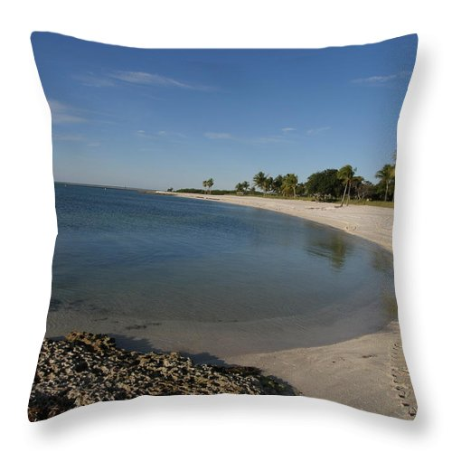 Beach Throw Pillow featuring the photograph Sombrero Beach by Kimberly Mohlenhoff