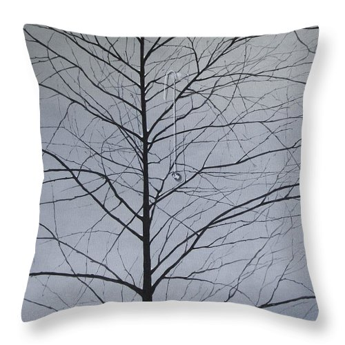 Winter Trees Throw Pillow featuring the painting Sorrow by Roger Calle