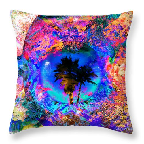 Palm Throw Pillow featuring the digital art South Of The Border by Robert Orinski