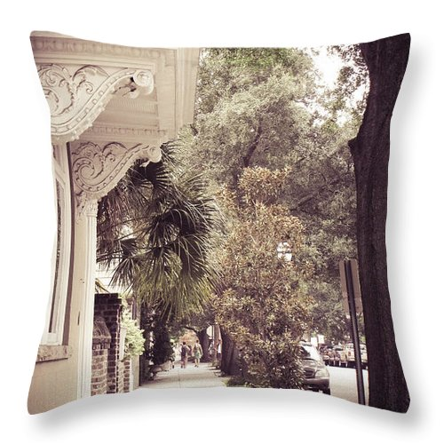 Charleston Throw Pillow featuring the photograph Southern Stroll by Jessica Brawley