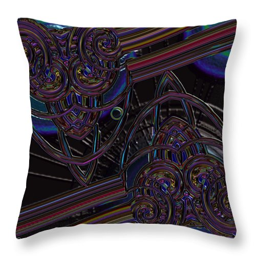 Black Throw Pillow featuring the photograph Space Glass by Alec Drake