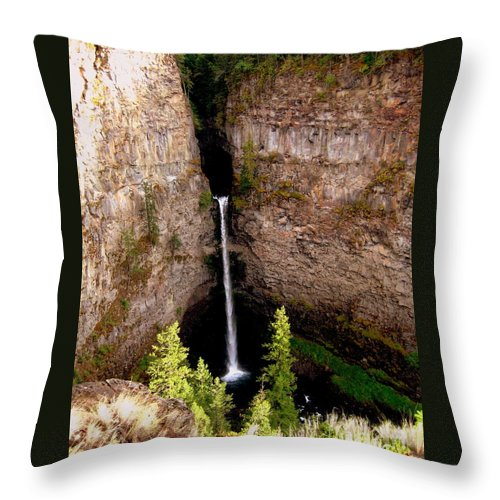 Waterfall Throw Pillow featuring the photograph Spahats Creek Falls by Kathy Bassett