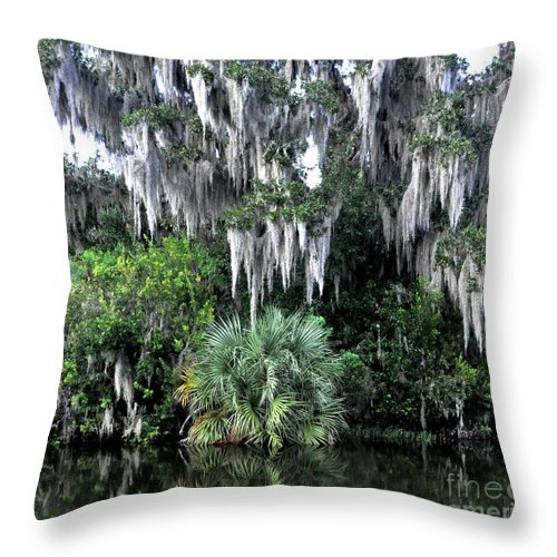 Spanish Moss Throw Pillow featuring the photograph Spanish Moss by John Black