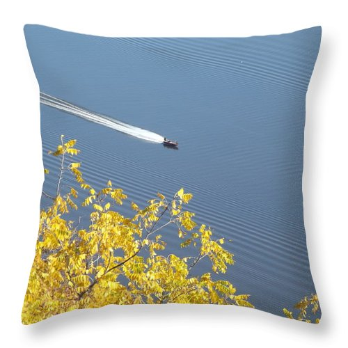 Boat Throw Pillow featuring the photograph Speed Boat by Bonfire Photography