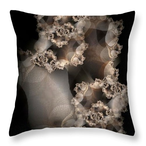 Fractal Throw Pillow featuring the digital art Spider Silk by Ron Bissett