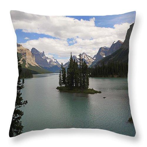 Spirit Island Throw Pillow featuring the photograph Spirit Island by Dennis Hedberg