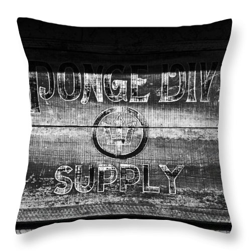Sponge Diver Supply Throw Pillow featuring the photograph Sponge Diver Supply by David Lee Thompson
