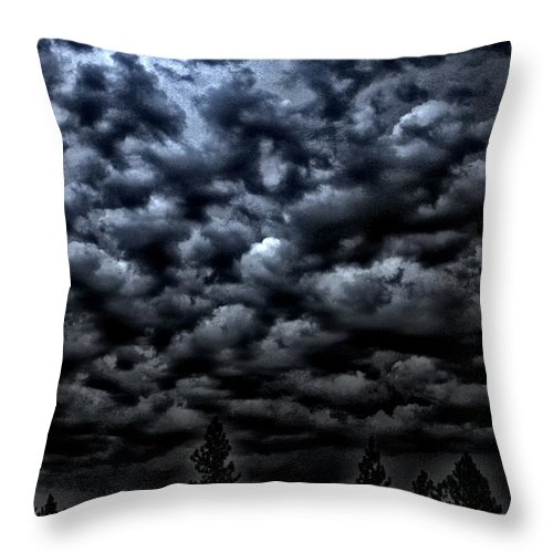 Clouds Throw Pillow featuring the photograph Spooks by One Rude Dawg Orcutt