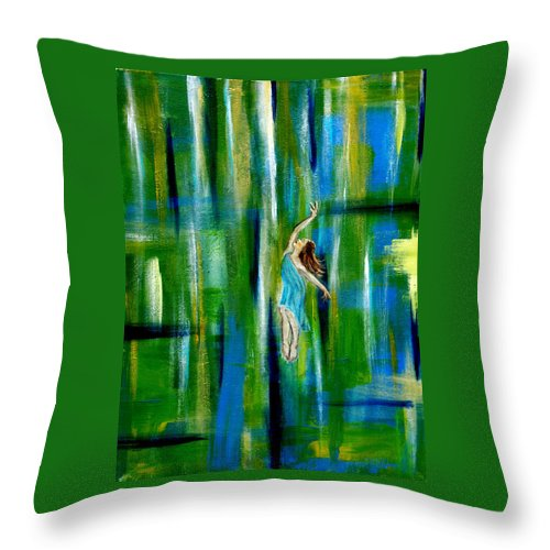 Spring Throw Pillow featuring the painting Spring Equinox by The Art With A Heart By Charlotte Phillips