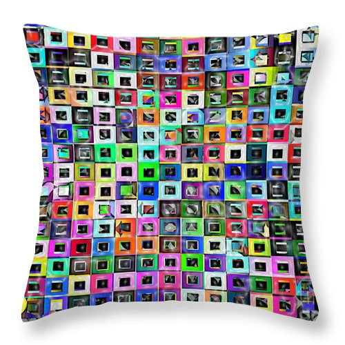 Ebsq Throw Pillow featuring the digital art Squared Off by Dee Flouton