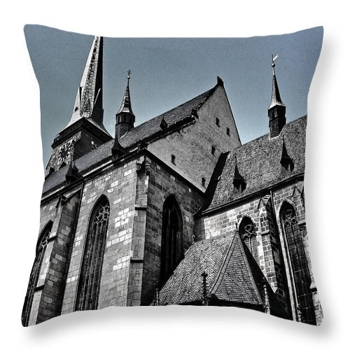 Europe Throw Pillow featuring the photograph St. Bartholomew Cathedral - Pilsen by Juergen Weiss