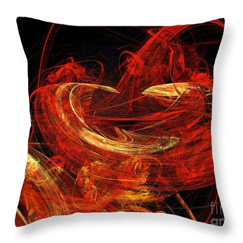 3d Throw Pillow featuring the digital art St Louis Abstract by Andee Design