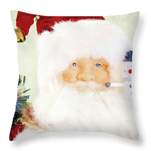 Attire Throw Pillow featuring the photograph St Nick by Darren Fisher