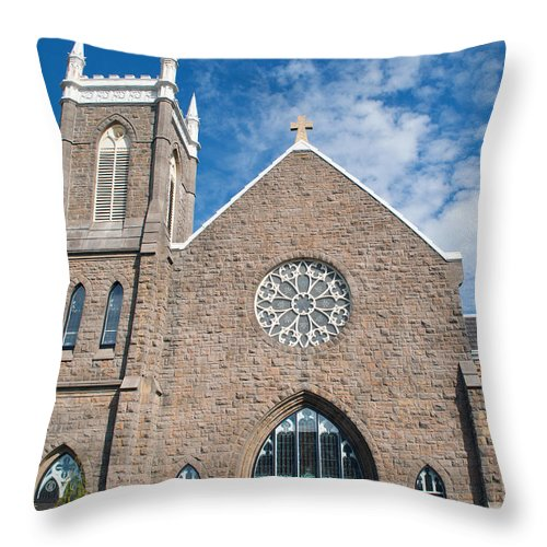 Church Throw Pillow featuring the photograph St. Patrick Church by Tikvah's Hope