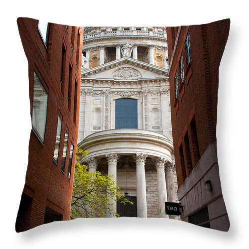 Architecture Throw Pillow featuring the photograph St Paul Cathedral by Svetlana Sewell