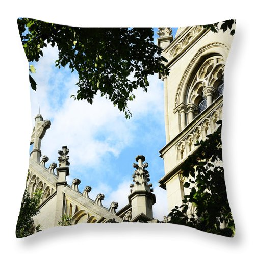 St Paul Cathedral Throw Pillow featuring the photograph St Paul Cathedral by Thomas R Fletcher