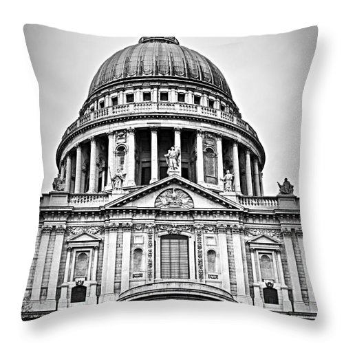Saint Throw Pillow featuring the photograph St. Paul's Cathedral In London by Elena Elisseeva