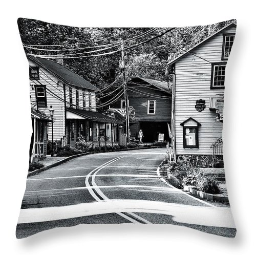 Village Throw Pillow featuring the photograph St. Peter's Village by Scott Wyatt