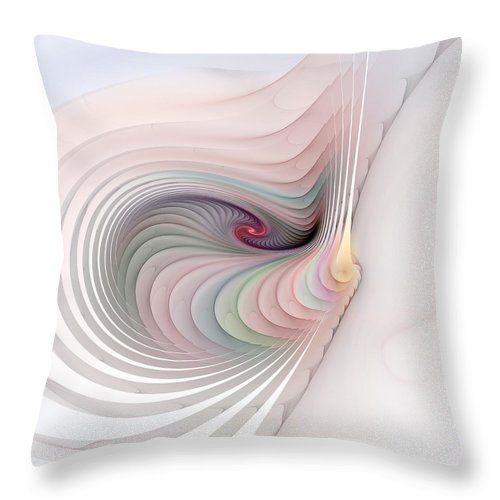 Fractal Throw Pillow featuring the digital art Stairs To Where by Richard Ortolano