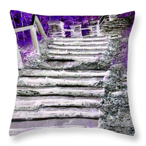 Stairs Throw Pillow featuring the photograph Stairway To Heaven by Rhonda Barrett