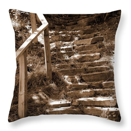 Stairs Throw Pillow featuring the photograph Stairway To Heaven by Trish Tritz
