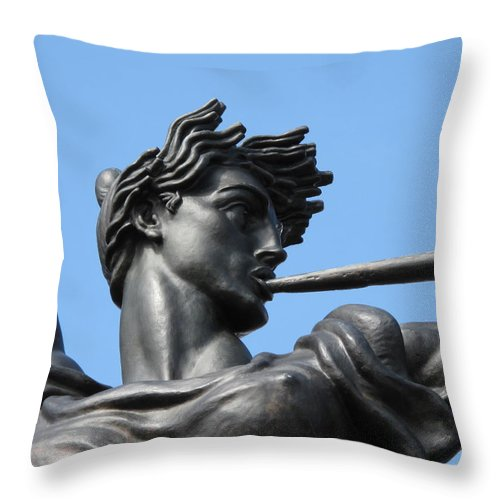 Statue Throw Pillow featuring the photograph Stand Strong by Michele Nelson