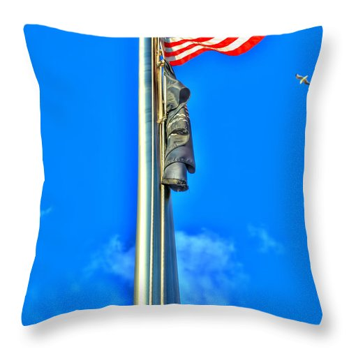 Throw Pillow featuring the photograph Standing Proud Soaring High by Michael Frank Jr