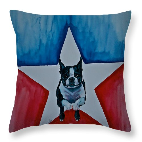 Throw Pillow featuring the painting Star Appeal 3 by Susan Herber