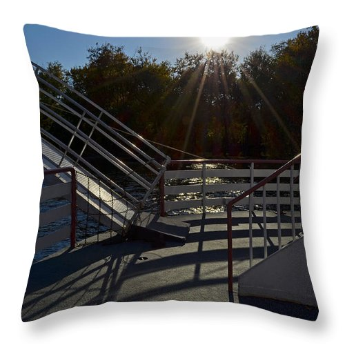 Color Photography Throw Pillow featuring the photograph Starboard Bow by Sue Stefanowicz
