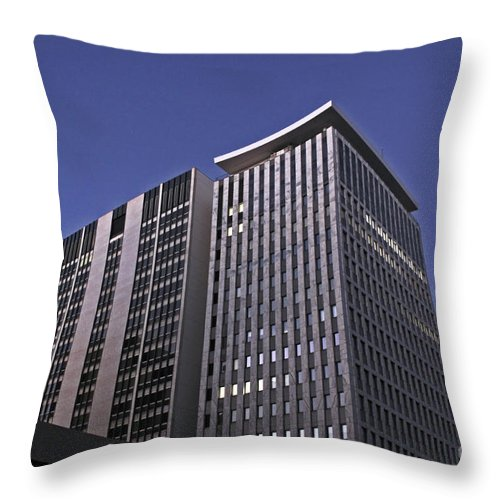 City Throw Pillow featuring the photograph Stark City by Stephen Mitchell