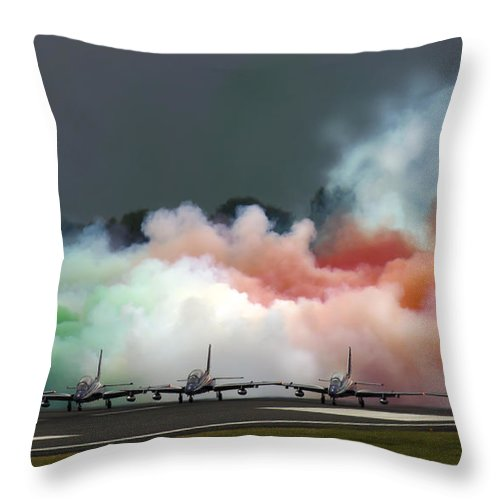 Airshow Throw Pillow featuring the photograph Starting The Show by Angel Ciesniarska