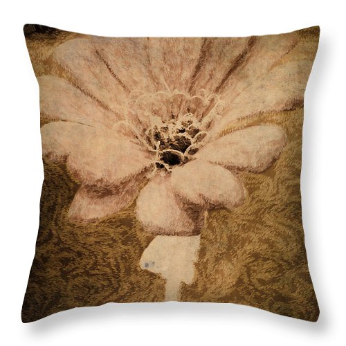 Flower Throw Pillow featuring the photograph Stay Strong by Trish Tritz
